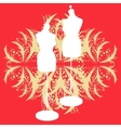 vintage tailors mannequin vector image