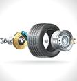 Wheel Parts vector image