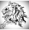 with baroque lion head in Victorian style vector image