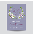 Wedding Card Lily and Anemone Flowers vector image vector image
