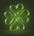 Abstract clover leaf ribbon symbol vector