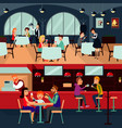 resting people horizontal composition vector image