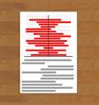 data statistics document vector image