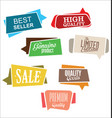 abstract modern label collection vector image