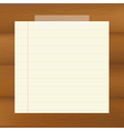 Paper On Wooden Brown Background vector image