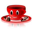 smiling red cup vector image vector image