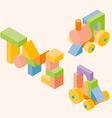 constraction children toy vector image
