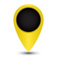blank tag yellow color to indicate on the map vector image