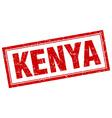 Kenya red square grunge stamp on white vector image
