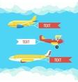 Aeroplane planes and biplane Set of colorful vector image
