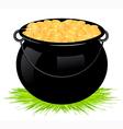 Cauldron with money vector image