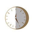 clock time business money flat icon vector image