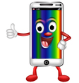 cute smart phone for you design vector image