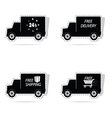 delivery truck sticker vector image