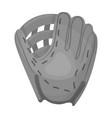 glove trap baseball single icon in monochrome vector image