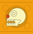 maya skull design vector image