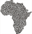 Continent in a leopard camouflage vector image