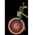 Stylish bicycle vector image