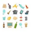 Garbage sorting food waste glass metal and paper vector image