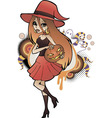 Halloween Witch Red vector image vector image