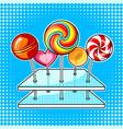 lollipops pop art vector image