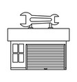 garage door mechanic vector image
