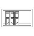 shelf icon outline style vector image
