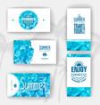 Set of geometric summer visiting card vector image
