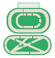 Hippodrome stadium for horse racing vector image