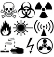 warning and hazard symbols vector image vector image