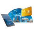 european union mobile service vector image vector image