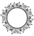 Black white circle frame with spurts of flame vector image