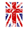 British flag vertical grunge design vector image