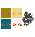 assembly of flat icons on theme evil emotions vector image
