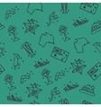Australia set pattern vector image