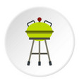 barbecue grill icon circle vector image