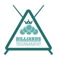 billiard tournament design vector image