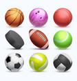 different 3d sports balls collection vector image