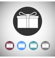 Gift box flat icons vector image