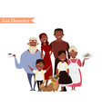 happy family in the white background vector image
