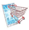 shopping phone app concept vector image