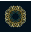 Stylish vintage floral pattern vector image