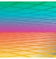 rainbow with diamonds bold geometric vector image