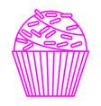 Sprinkles cupcake vector image