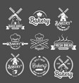 collection of vintage retro bakery logo badges and vector image
