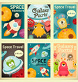 space posters set vector image vector image