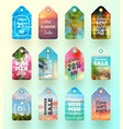 set of summer sale tags or labels vector image vector image