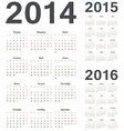 Russian 2014 2015 2016 calendars vector image vector image