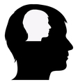 Male silhouette in male silhouette vector image vector image