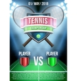 Background for posters tennis stadium game vector image
